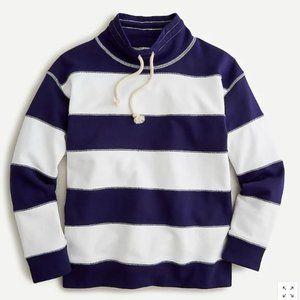 J Crew Funnelneck Striped Sweatshirt - BRAND NEW!